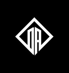 da logo monogram with square rotate style design vector image