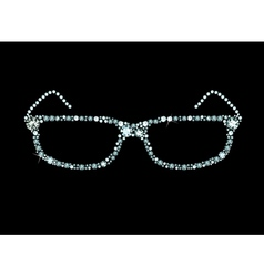 Diamond Glasses vector image