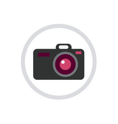 digital photo camera icon isolated vector image