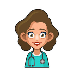 doctor and medical nurse avatar sign cute style vector image