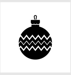 doodle christmas ball icon isolated on white vector image
