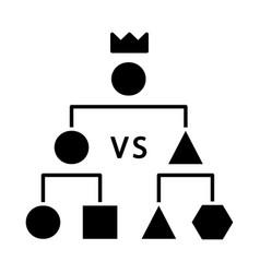 double-elimination tournament glyph icon vector image