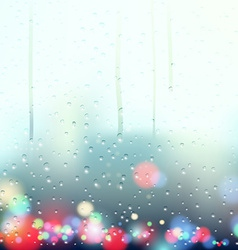 drops on window vector image