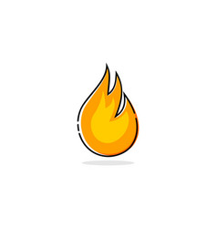 fire mbe style logo vector image