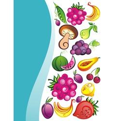Fresh juicy fruits on white backgrou vector image