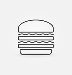 Hamburger line icon burger concept minimal vector