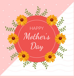 happy mothers day greeting or invitation card vector image