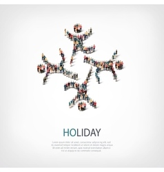 Holiday people sign 3d vector