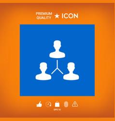 Human connection symbol vector