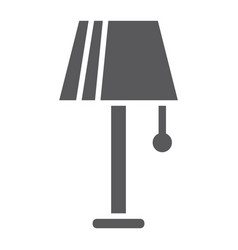 lamp glyph icon furniture and electric light vector image