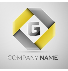 Letter G logo symbol in the colorful rhombus vector
