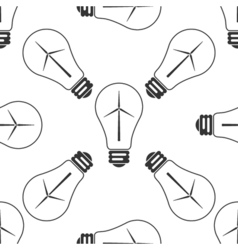 Light bulb with a wind turbines as idea of vector image