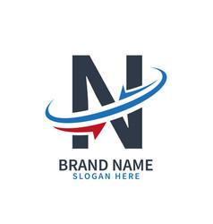 logo letter n design template letter n vector image