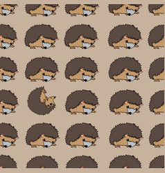 Misbehaving hedgehog one rollling in middlle vector