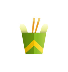 noodles in a box colored cartoon fast food vector image