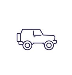 off-road car 4wd suv line icon vector image