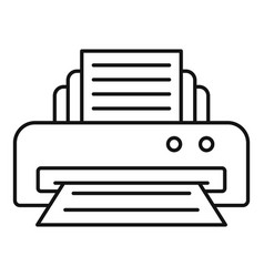 Office printer icon outline style vector
