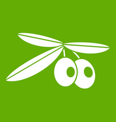 olives icon green vector image
