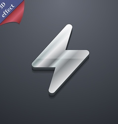Photo flash icon symbol 3D style Trendy modern vector