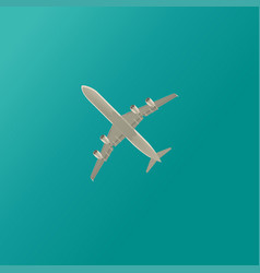 Plane in clouds 2 vector