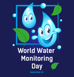 Poster international holiday world water vector