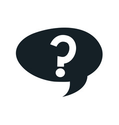questions sign support speech bubble vector image