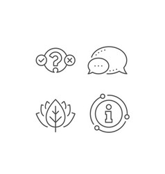 quiz test line icon select answer sign vector image
