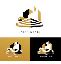 Real estate logo building development icon vector