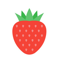 red berry strawberry vector image