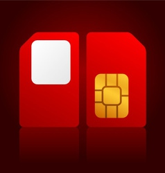 red sim cards vector image