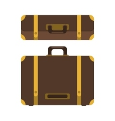 Set of suitcase icon vector image