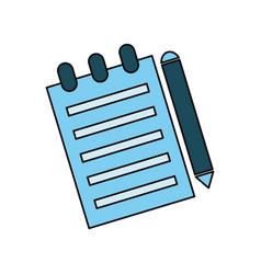 Sheet and pen vector