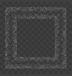 silver glitter confetti vector image