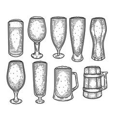 sketch beer mug or jug cup or goblet tankard vector image
