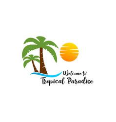 summer beach logo vector image
