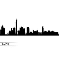 Taipei city skyline silhouette background vector