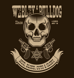texas cowboy vertical poster vector image