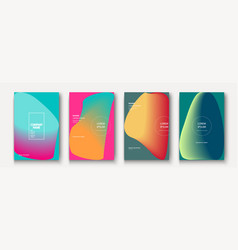 trendy cool minimalist abstract modern covers vector image