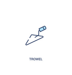 Trowel concept 2 colored icon simple line element vector
