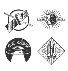 Vintage space emblems vector image