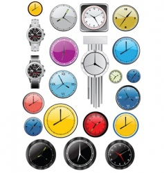 watches and clocks vector image
