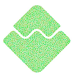 waves currency mosaic of dots vector image