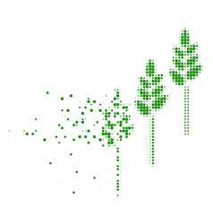 Wheat plants fragmented pixel icon vector