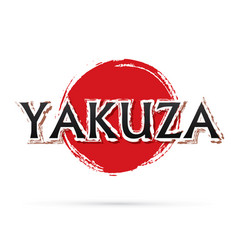 Yakuza text vector