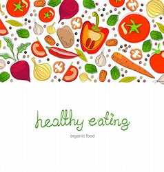 Background with bright healthy vegetables vector
