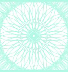 guilloche pattern rosette for play money or othe vector image