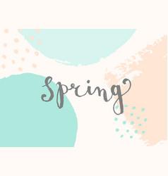 hello spring design vector image vector image