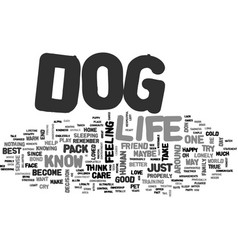 it s a dog s life text background word cloud vector image