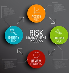 Risk management process diagram schema vector image vector image