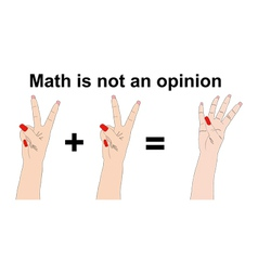 The math is not a opinion two plus two equals four vector
